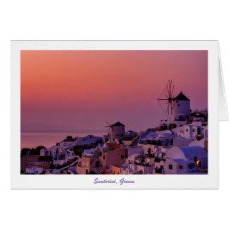 Wenskaart - Santorini Zonsondergang, Griekenland
