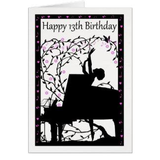 Wenskaart van de Verjaardag van de piano het