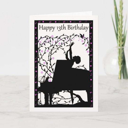 Wenskaart Van De Verjaardag Van De Piano Het Kaart Zazzle Nl