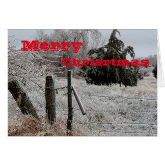 Wenskaart van Kerstmis van de Omheining van Kansas
