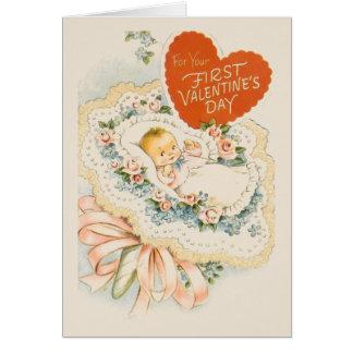 Wenskaart van Valentijn van het vintage Baby het