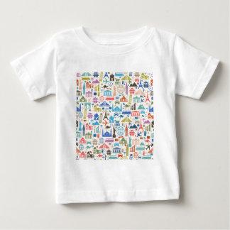 wereld reis baby t shirts