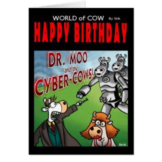 Wereld van de kaart van de koeverjaardag - Dr. Moo