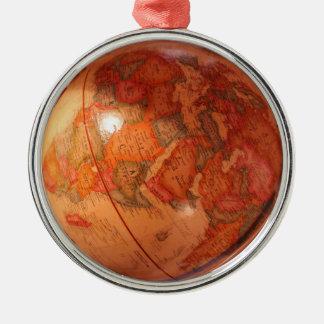 Wereldbol Zilverkleurig Rond Ornament