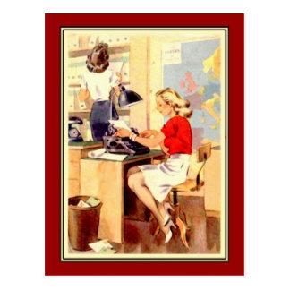 Werkend Meisje Briefkaart