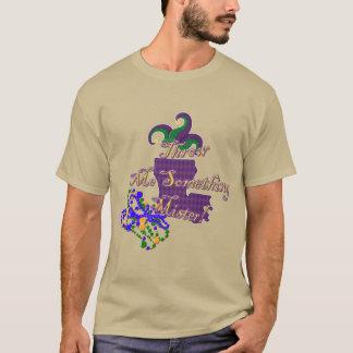 Werp me iets Mijnheer Mardi Gras T-Shirt