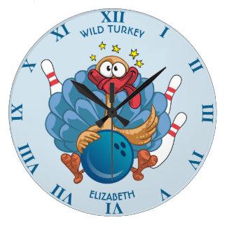 Werpend Wild Turkije met Bal en Grappige Spelden Grote Klok
