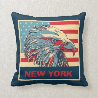 Werpt de Amerikaanse adelaar van New York Sierkussen