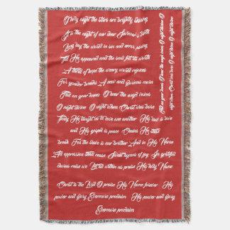 Werpt de Lyrische Oh van het Lied van Kerstmis Deken
