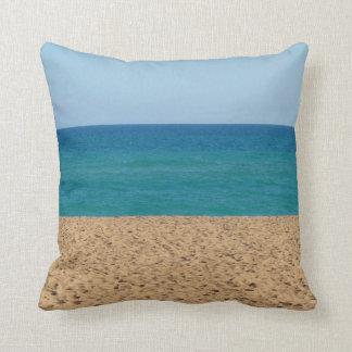 Werpt het Blauwe Strand van Aqua Hoofdkussen Sierkussen