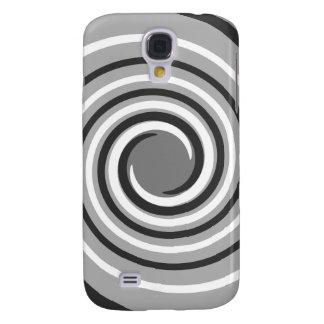 Wervelingen in Grijs en Wit. Spiraalvormig Ontwerp Galaxy S4 Hoesje