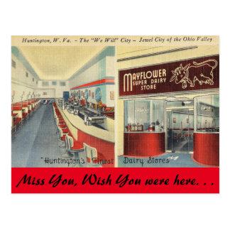 West- Virginia, Mayflower ZuivelOpslag, Huntington Briefkaart