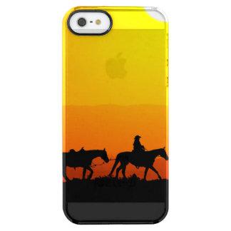 Western cowboy-cowboy-Texas-western-land Doorzichtig iPhone SE/5/5s Hoesje