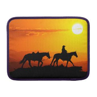 Western cowboy-cowboy-Texas-western-land MacBook Beschermhoes