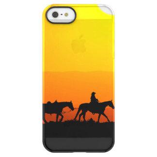 Western cowboy-cowboy-Texas-western-land Permafrost iPhone SE/5/5s Hoesje