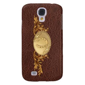 Western Leer & Gouden Gesp Galaxy S4 Hoesje
