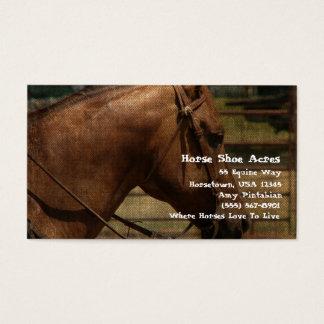 Westerne de Acres van de Schoen van het paard Visitekaartjes