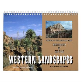 Westerne Landschappen Kalender