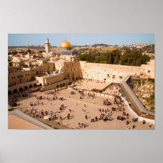Westerne Muur in Jeruzalem (Muur van Verdriet) Poster