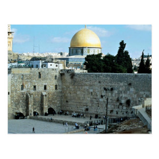 Westerne muur met Koepel van de Rots, Jeruzalem, Briefkaart