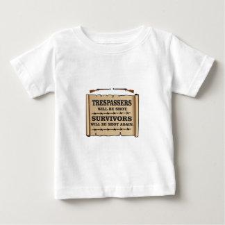 westerne wetten van land baby t shirts