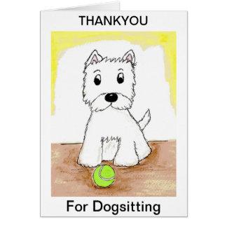 Westie dank u voor kaart Dogsitting