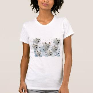 Westies in de pretT-shirt van de Sneeuw voor T Shirt