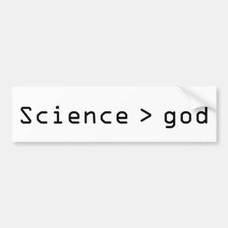 Wetenschap > de sticker van de godsbumper