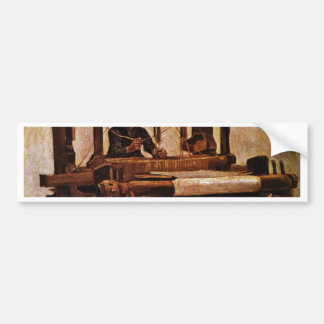 Wever bij het Weefgetouw door Vincent van Gogh Bumpersticker