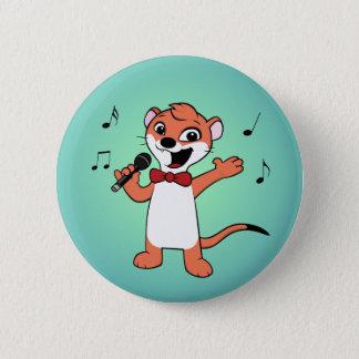 wezel cartoon ronde button 5,7 cm