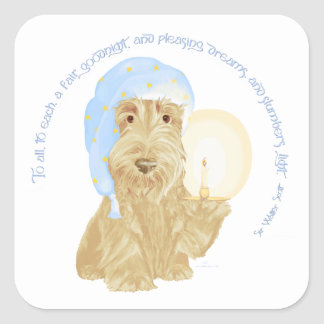 Wheaten Scottie Goodnight Vierkante Sticker