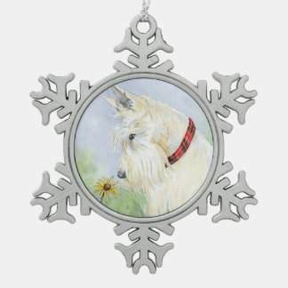 Wheaten Scottie Tin Sneeuwvlok Ornament