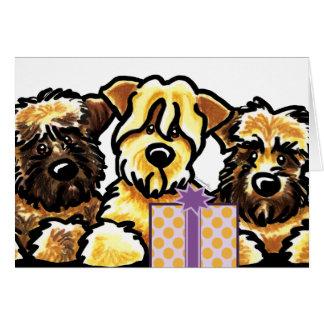 Wheaten Verjaardag van het Trio van Terrier Briefkaarten 0