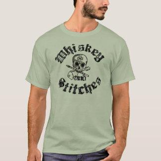 Whisky en het Overhemd van het Mannen van Steken T Shirt