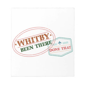 Whitby daar gedaan dat notitieblok