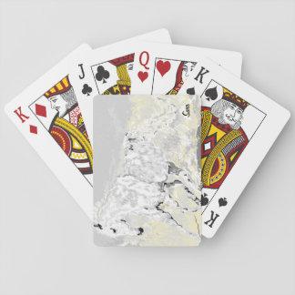 /White van speelkaarten Hengst in Motie