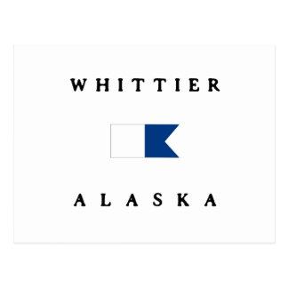 Whittier Alpha- Alaska duikt Vlag Briefkaart