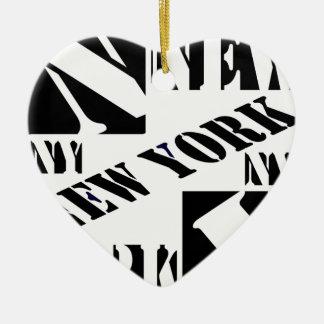 Who houdt van New York Kerstboom Ornamenten
