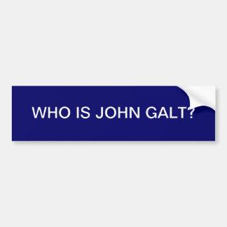Who is John Galt? Bumpersticker