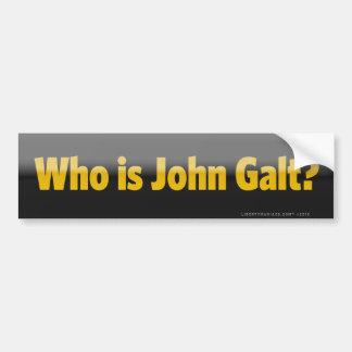 Who is John Galt? De Sticker van de bumper