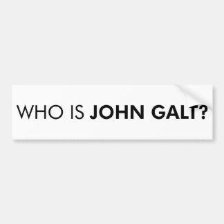 Who is John Galt? De vraag Bumpersticker