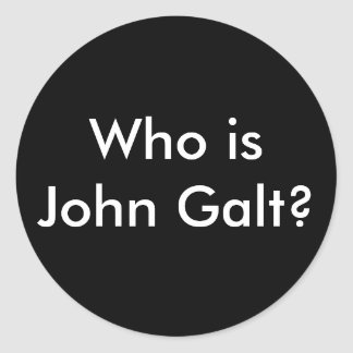Who is John Galt? stickers