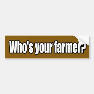 Who is Uw Sticker van de Bumper van de Landbouwer