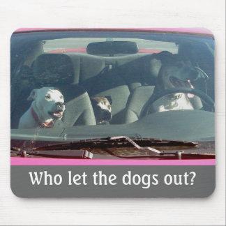 Who liet uit de honden? Mousepad Muismat
