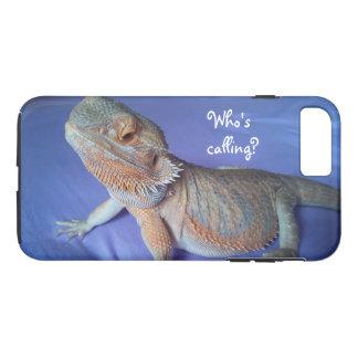 Who roept het Grappige Gebaarde Blauw van de Druk iPhone 8/7 Plus Hoesje