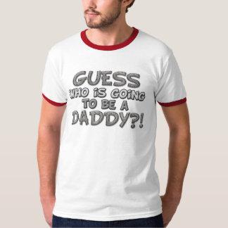 Who van de gissing gaat een Papa zijn?! Overhemd T Shirt