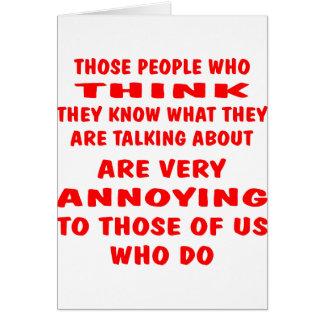 Who van die Mensen denkt zij weten Wat zij zijn Briefkaarten 0