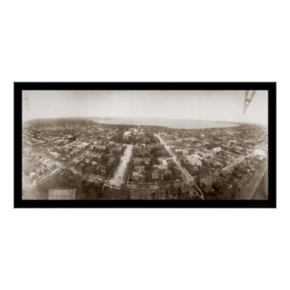 WI van Madison LuchtFoto 1908 Poster