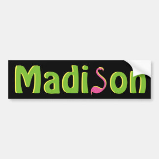 WI van Madison Wisconsin van de Sticker van de
