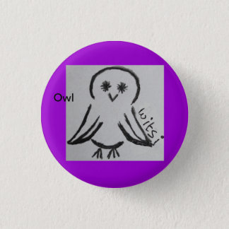 wicca kids owl ronde button 3,2 cm